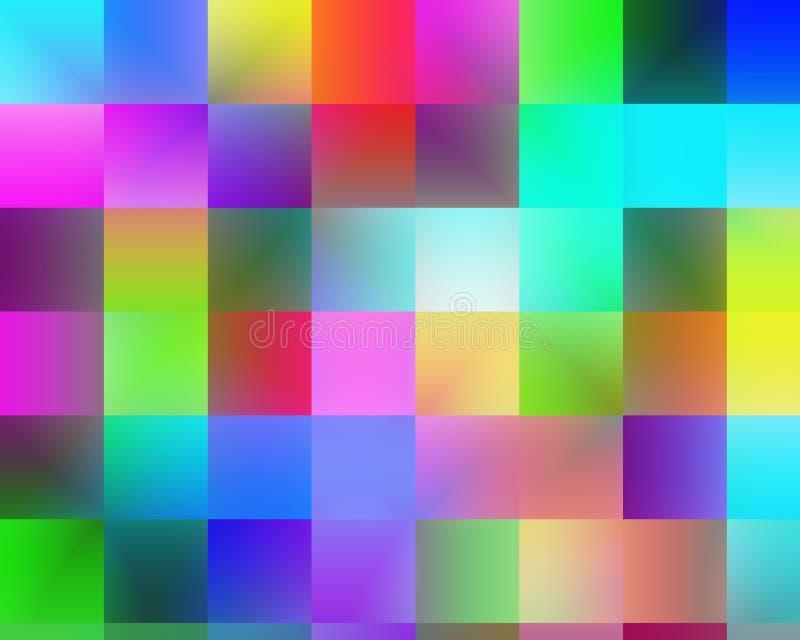 Places, les géométries abstraites vives brouillées colorées, texture vive abstraite illustration de vecteur