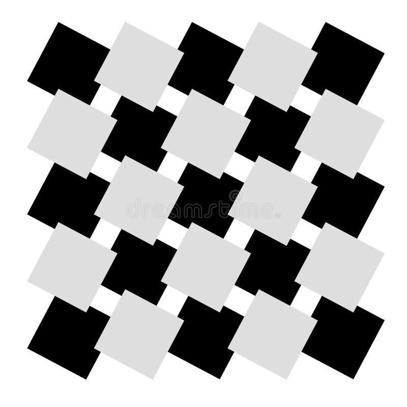 Places noires et blanches de modèle illustration de vecteur