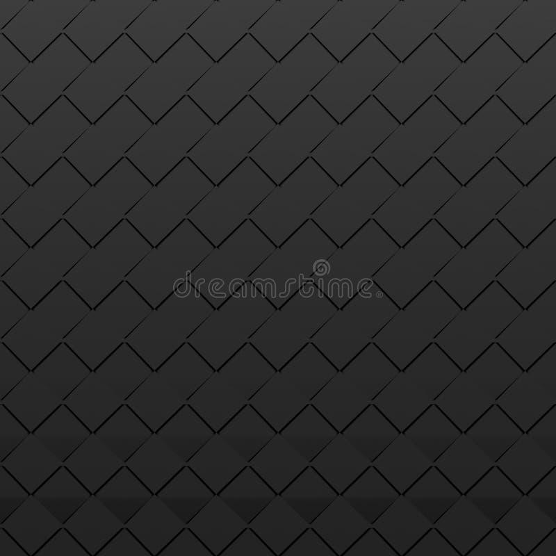 Places noires - fond carré abstrait illustration libre de droits