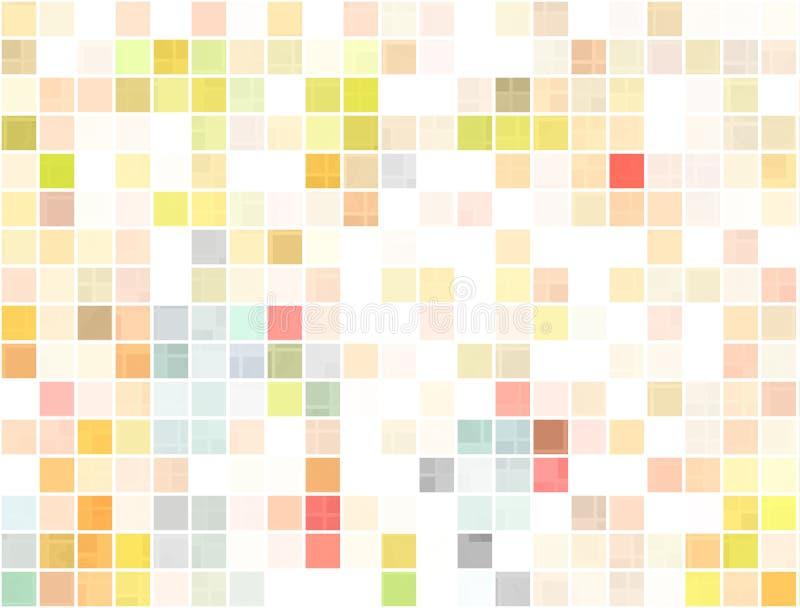 Places ou pixels colorés illustration stock