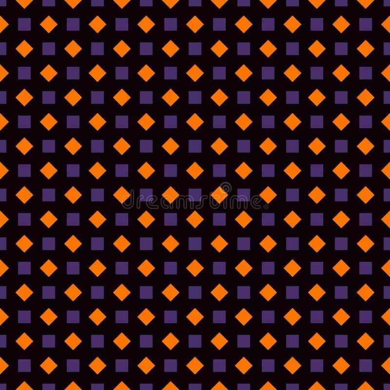 Places répétées et fond abstrait de diamants Motif géométrique Modèle sans couture dans des couleurs traditionnelles de Halloween illustration de vecteur