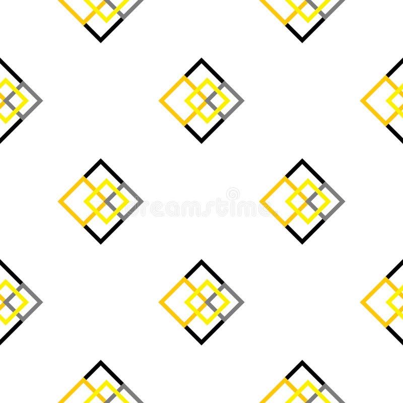 Places sans couture géométriques de jaune de modèle illustration de vecteur