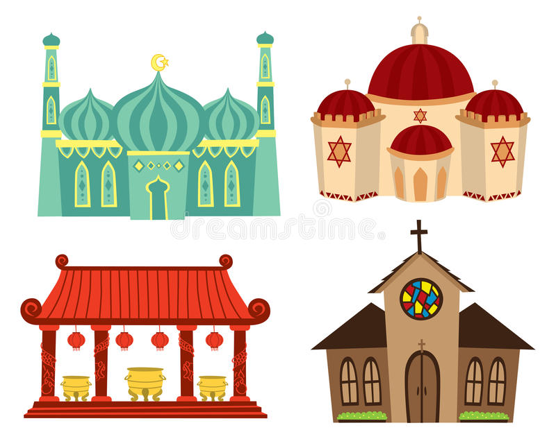 Download Places of worship stock illustration. Image of building - 29863374