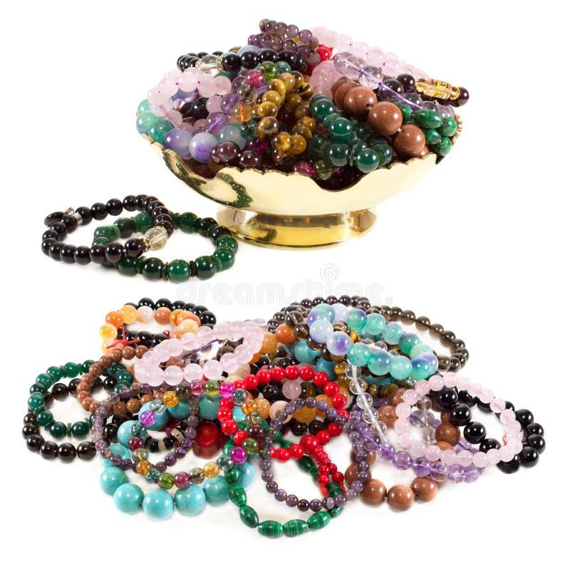 Placez avec des bracelets image stock