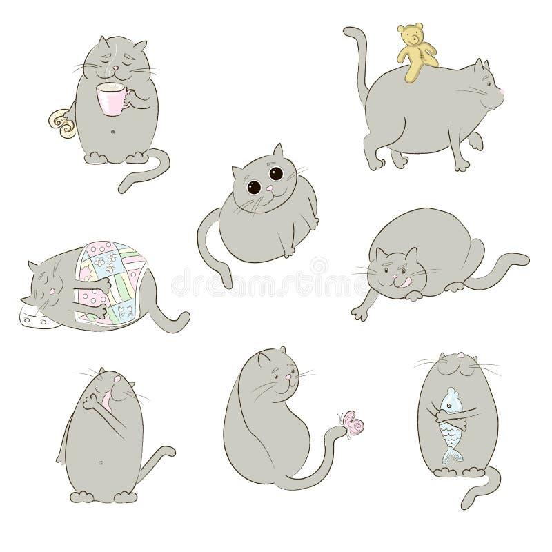 Placez avec des chats dedans illustration libre de droits