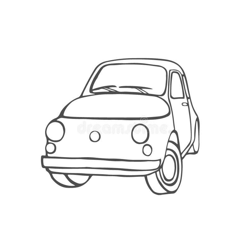 Placez avec des voitures illustration stock