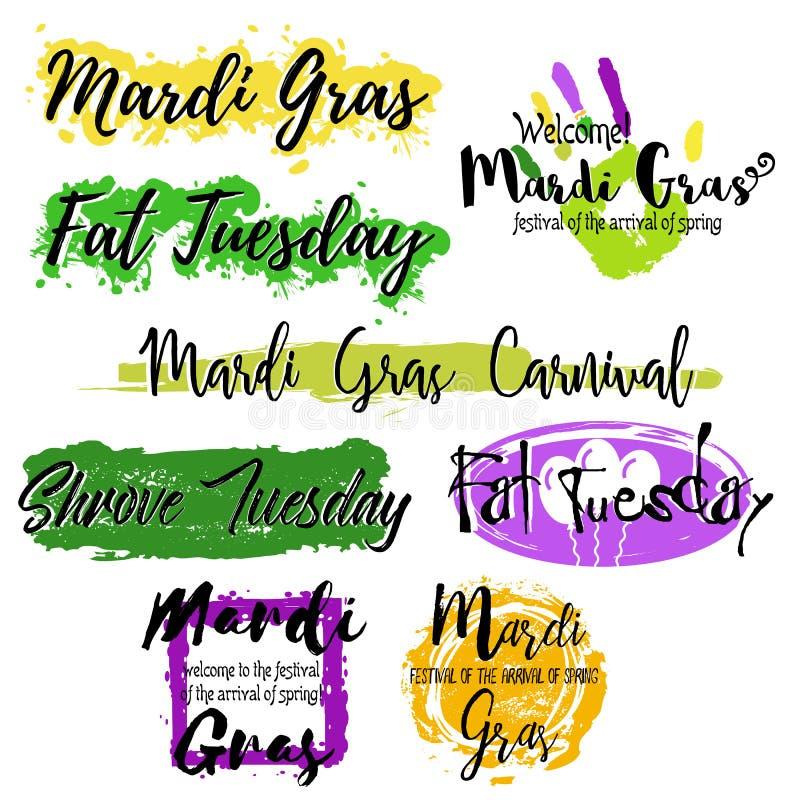Placez avec marquer avec des lettres Mardi Gras image stock