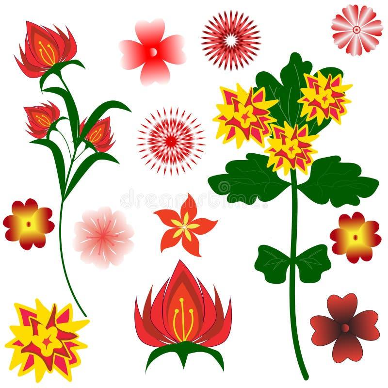 Placez de couleurs de fantaisie lumineuses pour votre conception sur le fond blanc illustration stock