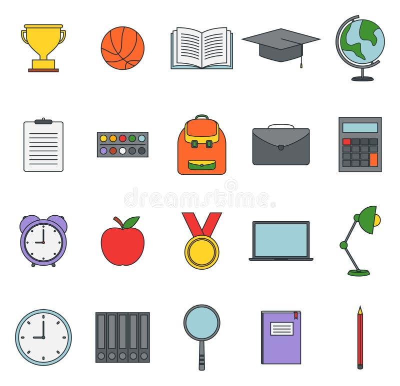 Placez de l'école et de l'icône éducative illustration libre de droits
