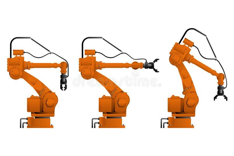 Placez de l'assemblée manipulant des robots illustration stock