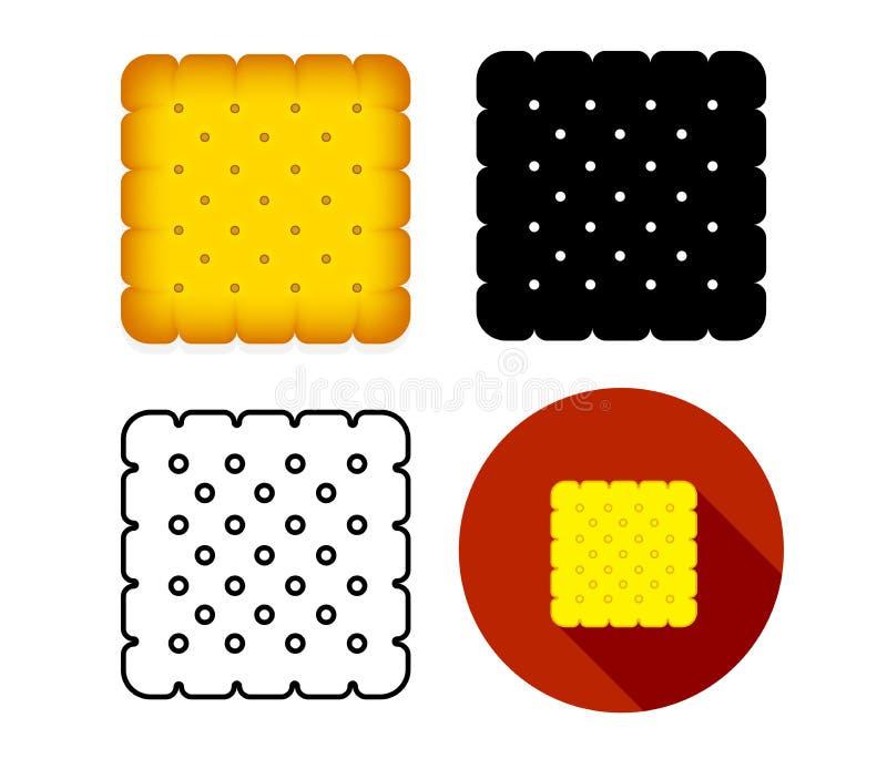 Placez de l'icône de biscuit de biskut, art de vecteur illustration de vecteur