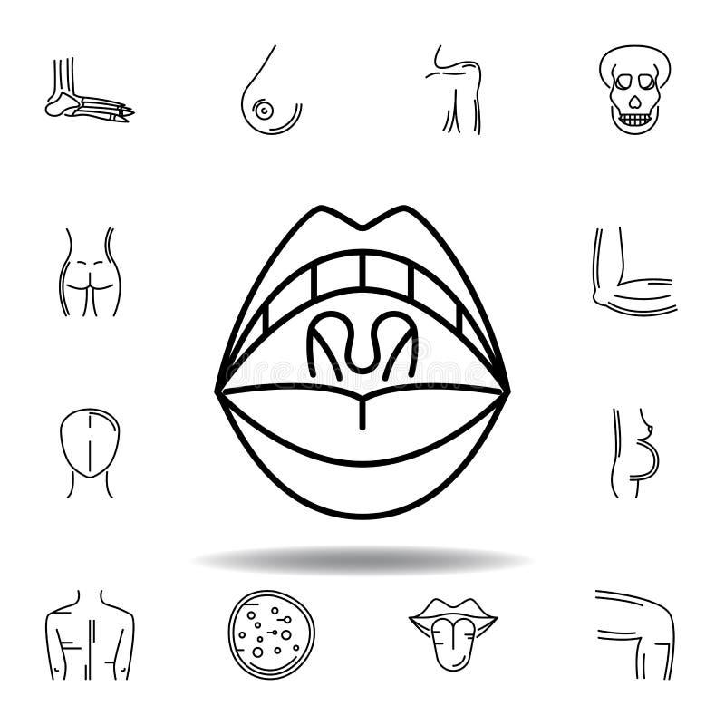 placez de l'icône d'ensemble d'amygdale d'organes humains Des signes et les symboles peuvent ?tre employ?s pour le Web, logo, l'a illustration de vecteur