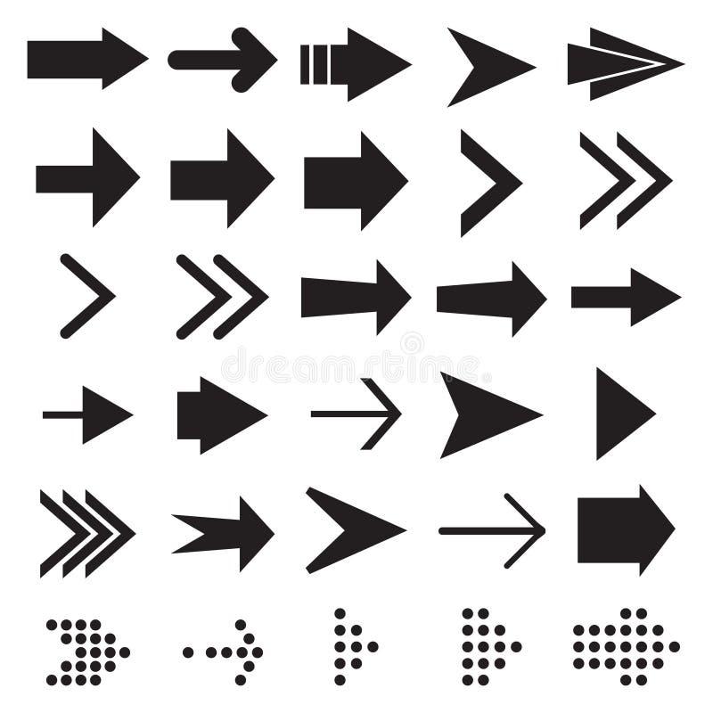 Placez de l'icône noire de flèche pour la conception illustration de vecteur
