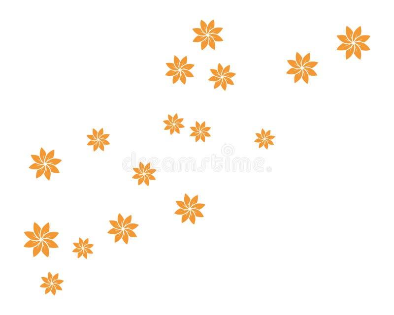 placez de l'illustration abstraite de calibre de fond de fleurs illustration de vecteur