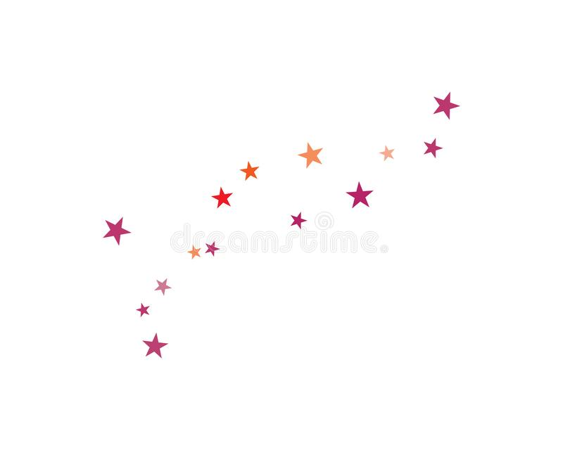 placez de l'illustration abstraite de vecteur de calibre de fond d'étoiles illustration stock