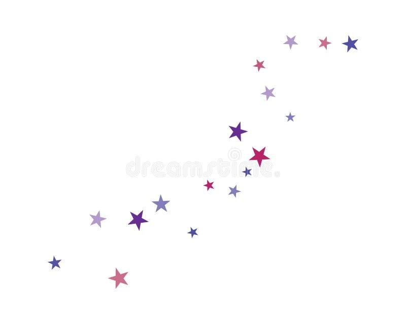 placez de l'illustration abstraite de vecteur de calibre de fond d'étoiles illustration de vecteur