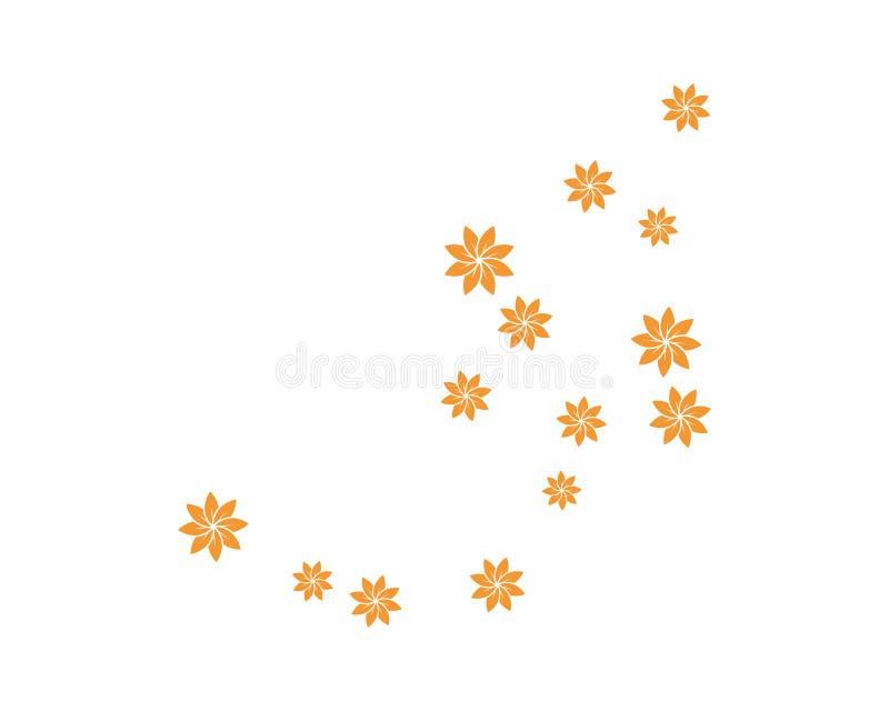 placez de l'illustration abstraite de vecteur de calibre de fond de fleurs illustration libre de droits