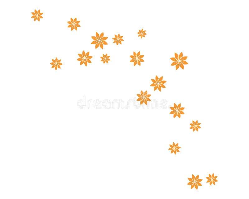 placez de l'illustration abstraite de vecteur de calibre de fond de fleurs illustration de vecteur