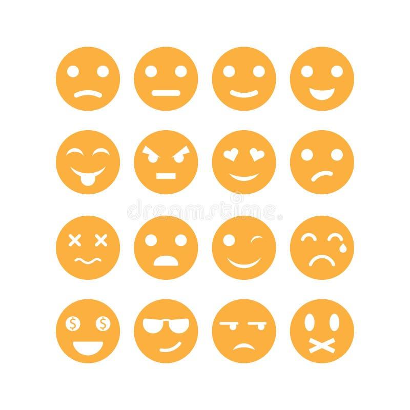 Placez de l'illustration d'icône de vecteur d'émoticône illustration stock