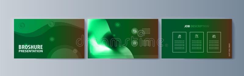 Placez de l'infographics de brochures pour lancer les biens et les services sur le marché de promotion sur le marché illustration de vecteur