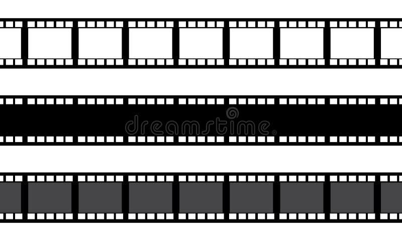 Placez de la bande de film d'isolement sur le fond blanc illustration stock