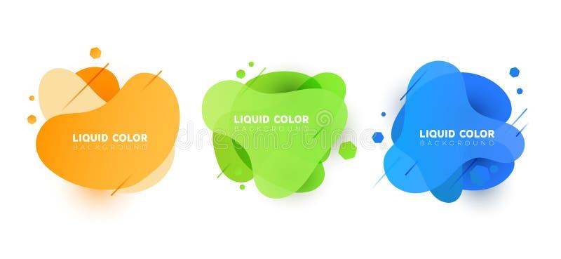 Placez de la bannière en plastique de bulles de gradient hydraulique Dirigez la conception pour les couvertures, la carte de voeu illustration libre de droits
