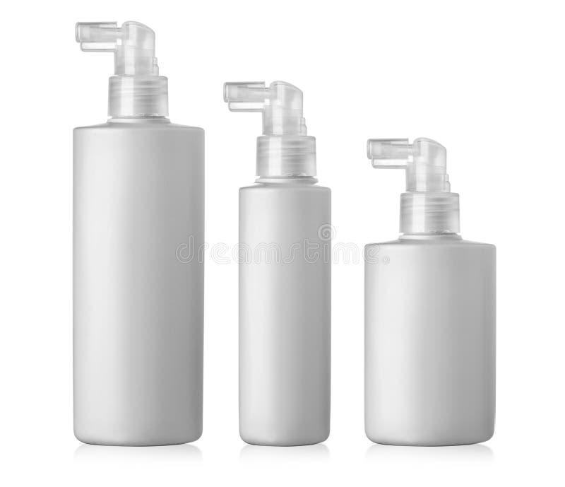 Placez de la bouteille en plastique cosmétique images stock