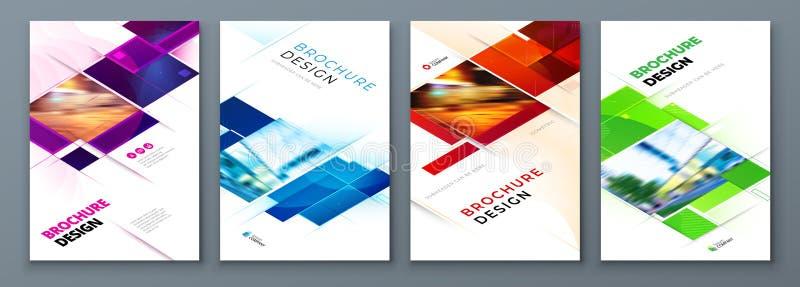 Placez de la conception de disposition de calibre de couverture de brochure Rapport annuel d'entreprise constitu?e en soci?t?, ca illustration libre de droits