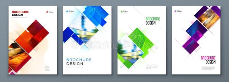 Placez de la conception de disposition de calibre de couverture de brochure Rapport annuel d'entreprise constitu?e en soci?t?, ca illustration stock