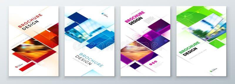 Placez de la conception de disposition de calibre de couverture de brochure Rapport annuel d'entreprise constitu?e en soci?t?, ca illustration de vecteur