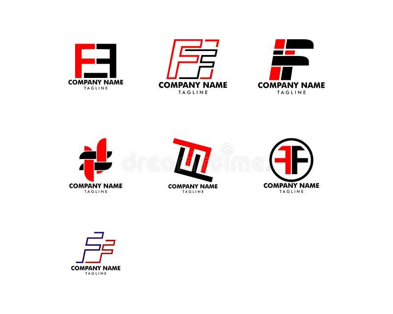 Placez de la lettre initiale FF Logo Template Design illustration de vecteur