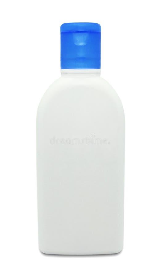 Placez de la moquerie cosmétique vers le haut de la bouteille en plastique d'isolement sur un fond blanc avec le chemin de coupag illustration de vecteur