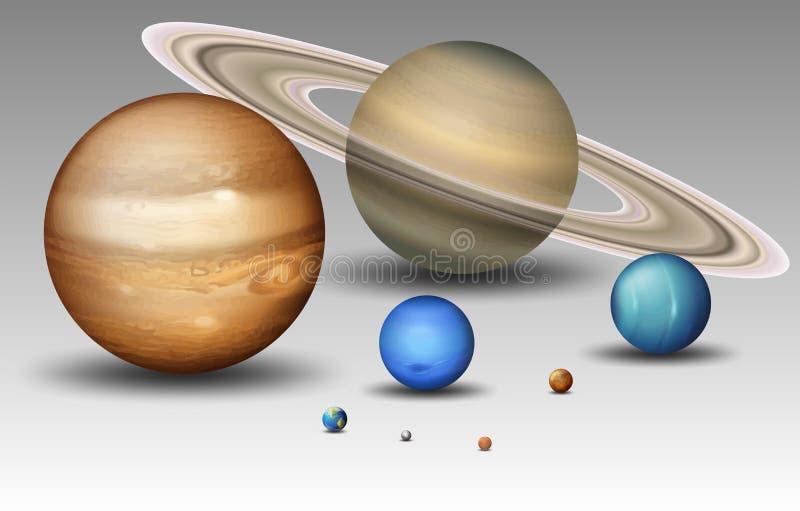 Placez de la planète de système solaire illustration libre de droits