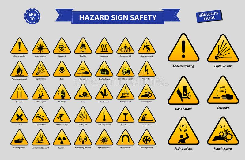 Placez de la sécurité de signe de risque illustration de vecteur