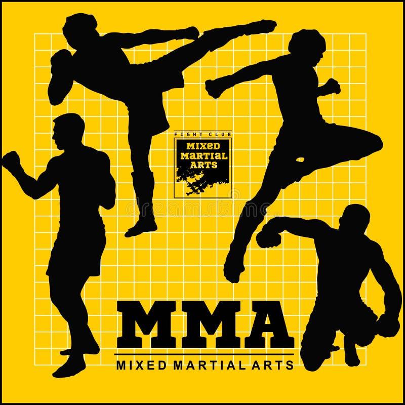 Placez de la silhouette de vecteur de combattants de Muttahida Majlis-e-Amal illustration stock