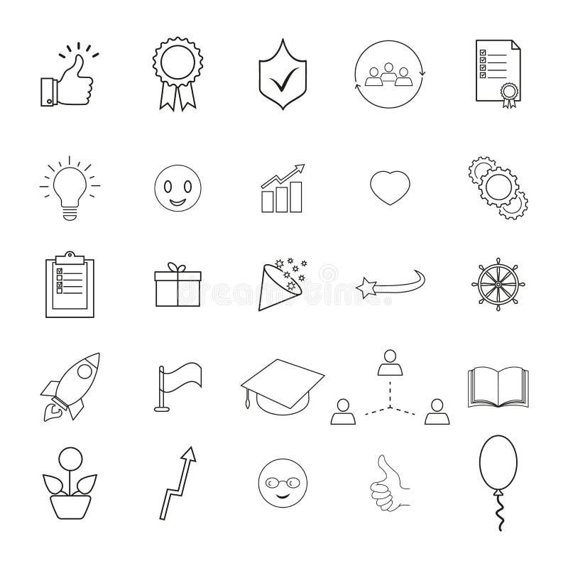 Placez de pour apporter, les icônes meilleures de résultat illustration libre de droits