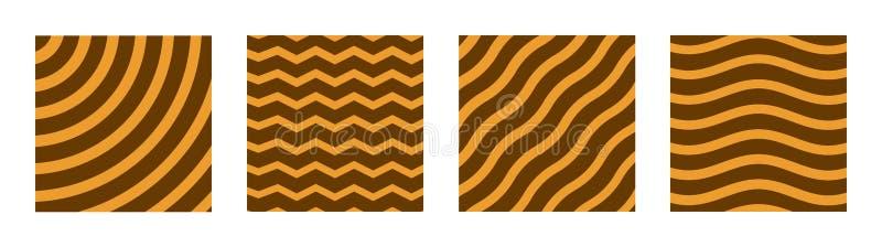Placez de quatre couvertures créatives Calibre abstrait de disposition de concept Applicable pour des affiches, plaquettes, couve illustration de vecteur