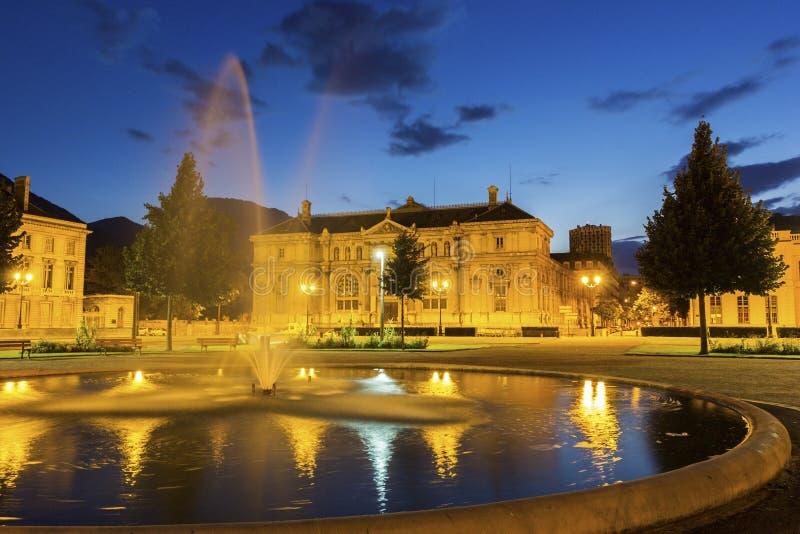 Placez De Verdun à Grenoble, France photographie stock libre de droits