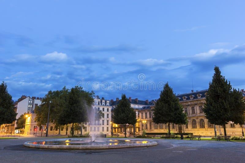 Placez De Verdun à Grenoble, France photo libre de droits
