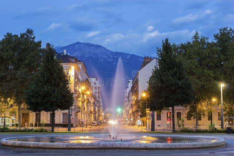 Placez De Verdun à Grenoble, France images stock