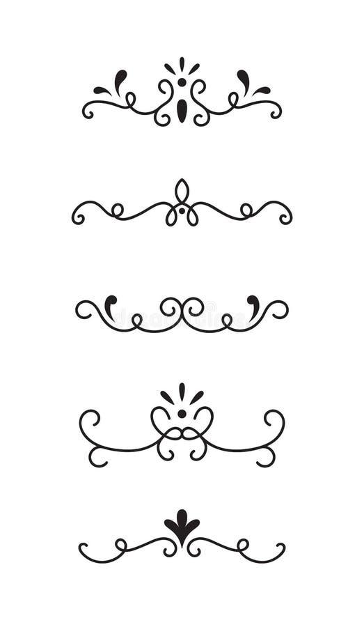 Placez des éléments décoratifs ornementaux illustration stock