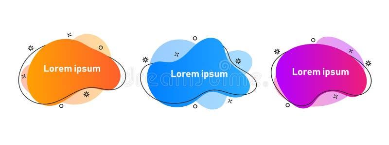 Placez des éléments graphiques modernes de résumé avec les formes et la ligne colorées dynamiques illustration stock