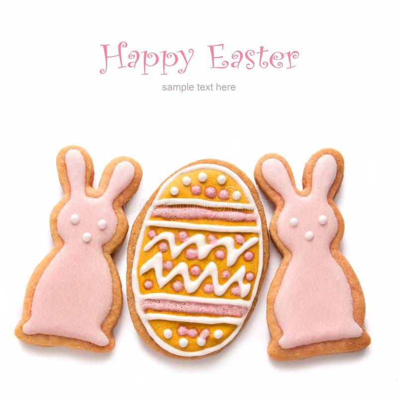 Placez des biscuits de Pâques images stock