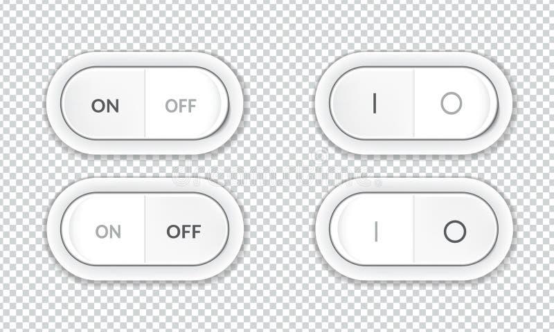 Placez des boutons réalistes de commutateur électrique illustration libre de droits