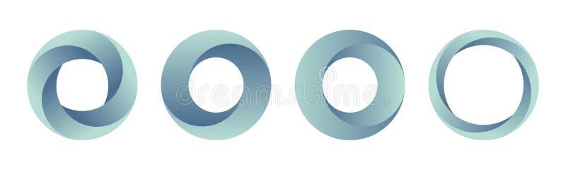 Placez des calibres de logos de gradient illustration libre de droits