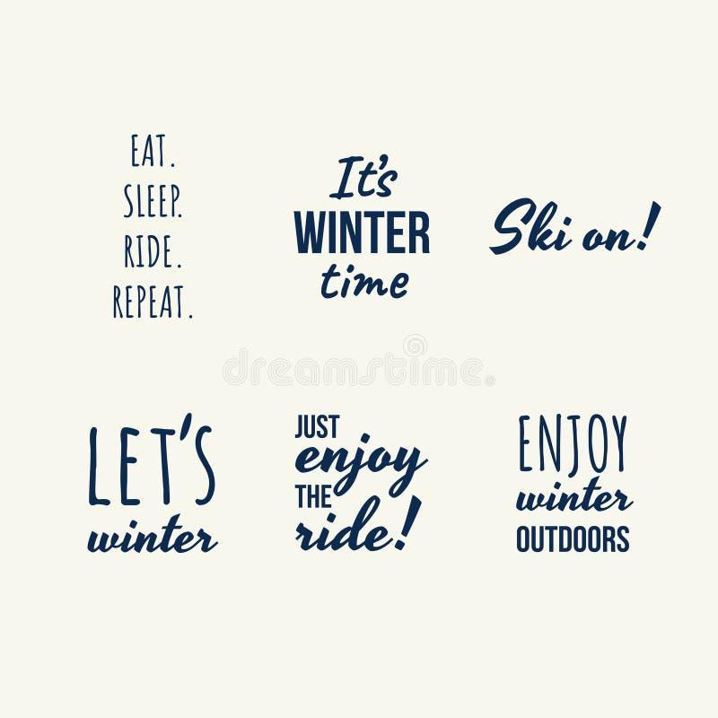 Placez des citations d'hiver illustration de vecteur