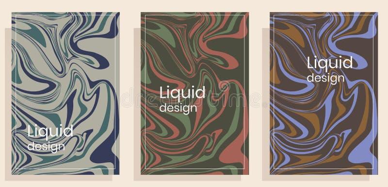 Placez des couvertures dans le style liquide illustration libre de droits