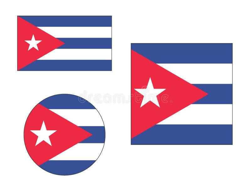 Placez des drapeaux du Cuba illustration libre de droits