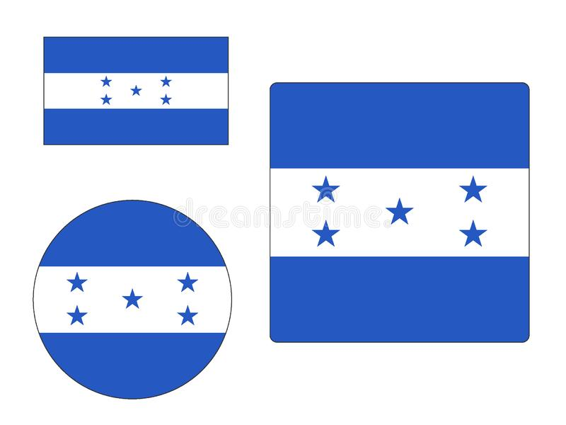 Placez des drapeaux du Honduras illustration libre de droits