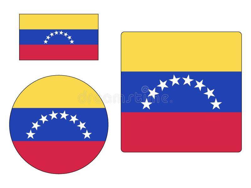 Placez des drapeaux du Venezuela illustration de vecteur